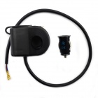 Jtron Waterproof Motorcycle USB Charger Cigarette Lighter - Black (12V)