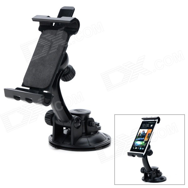 360 Degree Rotatable Suction Cup Mount Holder for IPHONE / IPAD / IPOD / Samsung / GPS / MID + More h08 360 rotation 4 port suction cup holder w silicone back clip for iphone 4 4s 5 ipad mini ipod