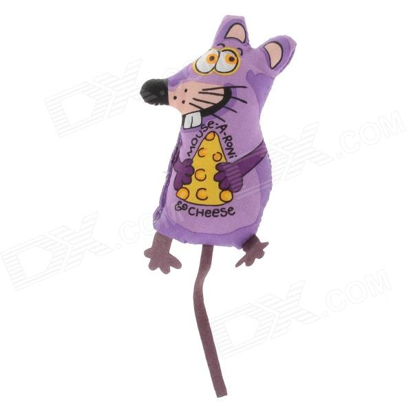 Cheese Rats Pet Cat Toy - Purple + Yellow одежда для дам in accordance with cloth y14c347 2014