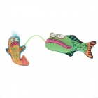 Cute Toy Green Fish Pet Cat Toy - Green + Blue + Orange + Black + Red