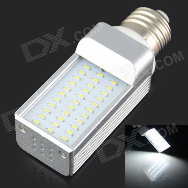 E27 4W 300LM 6000K 33 3014 SMD LED Bulb Is White White + Silver (AC 85-265V) - DXE27<br>Color White + Silver Color BIN White Brand HZLED Model N/A Material Plastic + Aluminum Quantity 1 Piece Power 4W Rated Voltage AC 85-265 V Connector Type E27 Chip Brand Epistar Emitter Type Others3014 SMD LED Total Emitters 33 Theoretical Lumens 360 lumens Actual Lumens 300 lumens Color Temperature 6000K Dimmable no Beam Angle 180 ° Certification N/A Packing List 1 x LED bulbs<br>