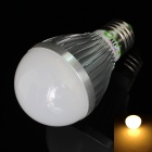 LUO E27 9W 730lm 3000K 18 x SMD 5630 LED Warm White Light Bulb - Silver + White (85~265V)