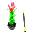 Wand to Flower Magic Trick - Black + Red