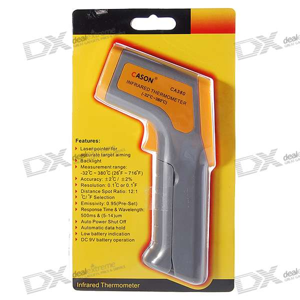 Digital InfraRed Thermometer with Laser Sight - Random Color (-32'C~380'C/26'F~716'F)