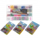 DIY Deluxe Educational Silicone Loom Bundle Kit / Rainbow Bracelet / Candy Watch - Multicolored