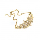 Exaggerated Metallic Flowers of Ethnic Style Zinc Alloy Women's Necklace - Golden