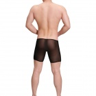 UzHot 34003 Ultra-Thin Boxers Men's Underwear - Black (Free Size)