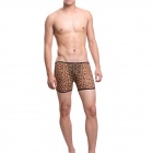 Ultra-thin Boxers Men's Underwear - Leopard (Free Size)