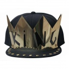 KING Rivet Flat Brimmed Hat - Black + Golden