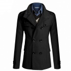 AOWO MBB-F66 Stylish Men's Slim Fit Long Coat - Black (Size-XXL)