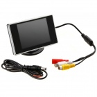 "Jtron 3.5"" Hign Definition Car Color TFT LCD Monitor Rearview DVD - Black"