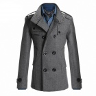 AOWO MBB-F66 Stylish Men's Slim Fit Long Coat - Light Grey (Size-XL)