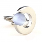 Pellet Gem Modelo de Hombre Gemelos-Silver + Light Purple (par)
