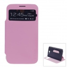 XSKN Protective PU Leather Case Cover Stand w/ Visual window for Samsung Galaxy Note 2 N7100 - Pink