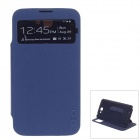 XSKN PU Leather Case Cover Stand w/ Visual window for Samsung Galaxy Note 2 N7100 - Deep Blue