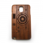 Retro Camera Style Detachable Protective Wooden Back Case for Samsung Galaxy Note 3 N9000 - Pecan