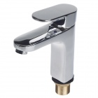 BAIYU Copper Hot / Cold Water Supply Single Handle Faucet Set - Silver