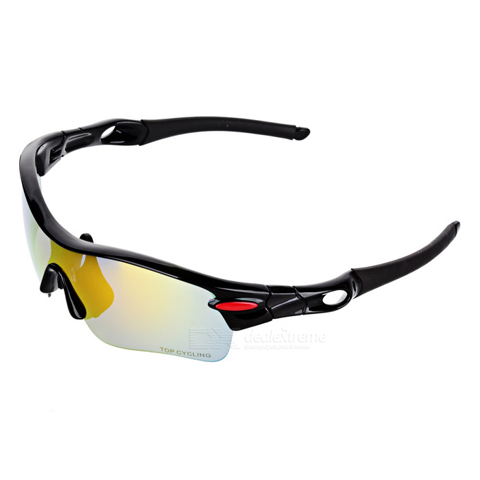 TOPCYCLING PC Frame TR90 Lens Cycling Polarized Sunglasses - Black запонки капитан америка churchill accessories запонки капитан америка