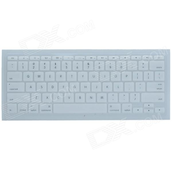 CHEERLINK J-11 Ultra-thin Protective TPU Keyboard Cover for Apple Macbook 11 - White protective silicone keyboard cover for apple macbook pro air purple
