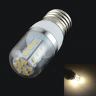 HZLED E27 4W 324lm, 3000K, 27 x 2835 SMD LED Warm White Light Bulb Lampe - Weiß + Silber (AC 85 ~ 265V)