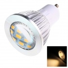 GU10 6W 210lm 2500K 16 x SMD 5730 LED Warm White Energy Saving Light Bulb - White (AC 220~240V)