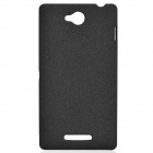 TEMEI Quicksand Style Protective Plastic Back Case for Sony Xperia C S39H - Black
