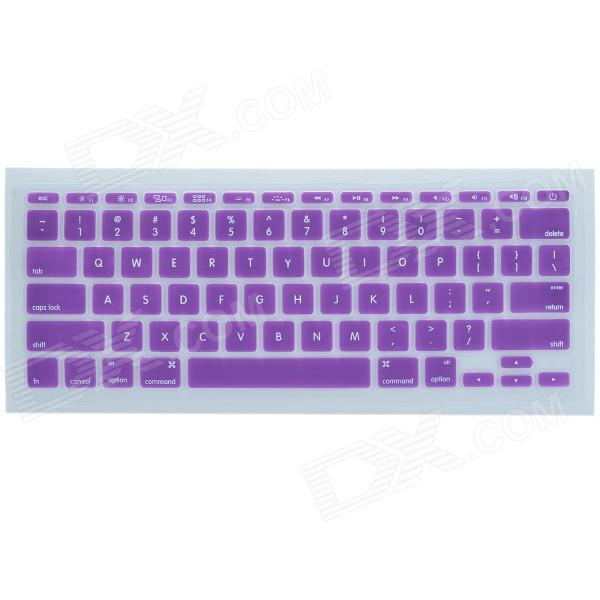 CHEERLINK J-11 Ultra-thin Protective TPU Keyboard Cover for Apple Macbook 11 - Purple protective silicone keyboard cover for apple macbook pro air purple