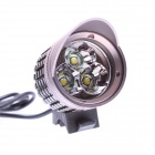 BN 005 CREE XM-L T6 1800lm 3-Mode Cool White Light Bicycle Light - Grey (4 x 18650)