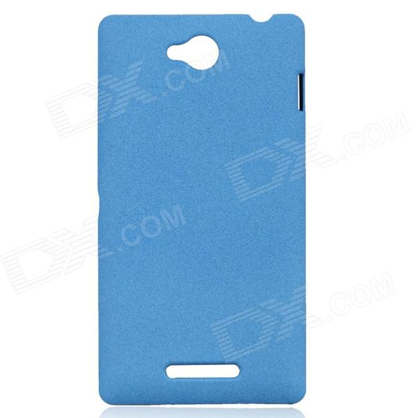 TEMEI Quicksand Style Protective Plastic Back Case for Sony Xperia C S39H - Blue s style protective tpu back case for sony xperia acro s lt26w translucent blue