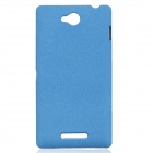 TEMEI Quicksand Style Protective Plastic Back Case for Sony Xperia C S39H - Blue