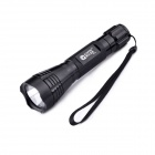 GODFIRE SH-T60 3-Mode 800LM White Flashlight w/ Strap - Black (1 x 18650)