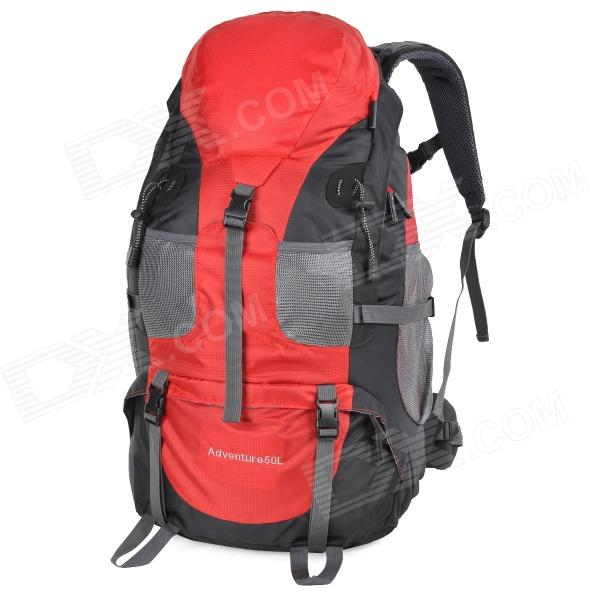 Creeper 3920 Outdoor Nylon Mountaineering Backpack Bag - Red + Black (50L) - DXBackpack<br>Color Red + Black Brand OthersCreeper Model 3920 Quantity 1 Piece Material Nylon Best Use MountaineeringTravel Frame Type Internal Gear Capacity 50 L Raincover included No Type Internal Frame Backpacks Other Features Ergonomic design protecting your back; Waterproof anti-tear fashionable and lightweight; Comfortable to use Packing List 1 x Backpack (80cm belt)<br>