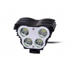 FandyFire F-100 4-LED 4-Mode 2400lm White Bike Light / Headlamp - Black (4 x 18650)