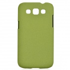 TEMEI Quicksand Style Protective Plastic Back Case for Samsung Galaxy Win i8552 - Green