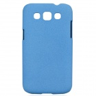 TEMEI Quicksand Style Protective Plastic Back Case for Samsung Galaxy Win i8552 - Blue