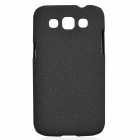 TEMEI Quicksand Style Protective Plastic Back Case for Samsung Galaxy Win i8552 - Black