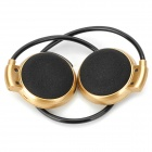 Mini-503 Bluetooth V2.1 Neckband Headphone w/ Microphone - Golden + Black