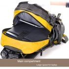 Local Lion Outdoor Mountaineering Nylon Backpack Bag - Yellow + Grey + Multi-Colored (50L)