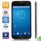 "i8(i8752) MTK6589 Quad-Core Android 4.2 WCDMA Bar Phone w/ 5.7"" IPS, FM, Wi-Fi, GPS - Black + Grey"