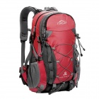 Local Lion Outdoor Mountaineering Nylon Backpack Bag - Red + Multicolored (50L)