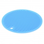 Round Environmental Silicone Anti-Slip Heat Insulation Pad - Blue