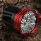 SingFire SF-823 9-LED 1000lm 5-Mode White Memory Bike Light - Black + Red (12 x 18650)
