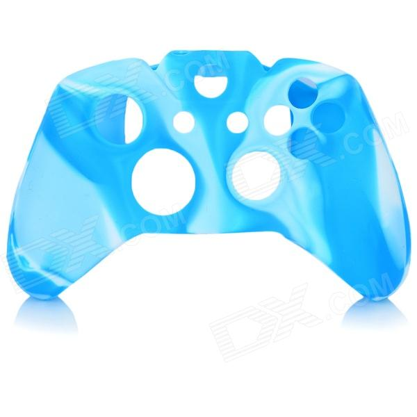 Protective Silicone Case Cover for XBox One - Blue + White protective silicone cover case for xbox 360 controller yellow blue