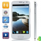 "W500 MTK6582 Quad-core Android 4.2.2 WCDMA Bar Phone w/ 5.0"", 512MB RAM, 4GB ROM, GPS -White +Silver"