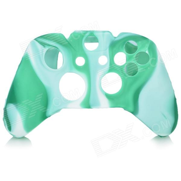 Protective Silicone Case Cover for XBox One - Green + White protective silicone case for xbox one controller camouflage green