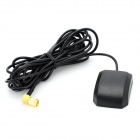 02 1575.42±3MHz SMA Male RG174 Cable GPS Signal Receiving Antenna - Black + Golden (300cm-Cable)