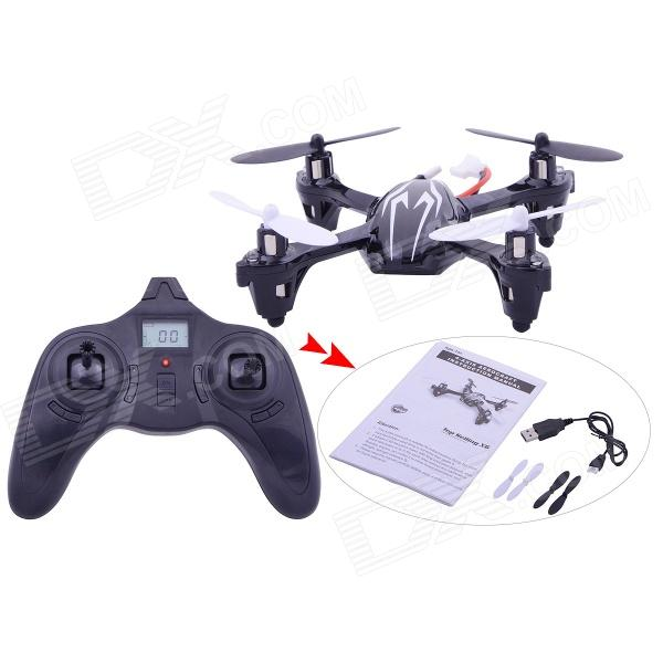 X6 2.4G 4-CH Remote Control Quadcopter Toy with LCD Screen - White + Black