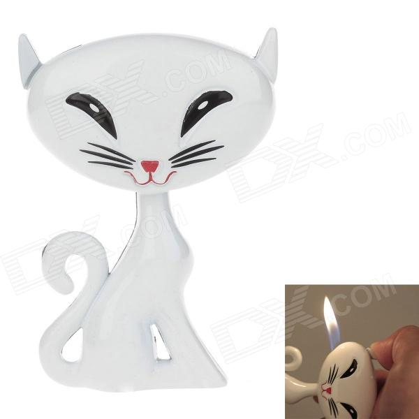 Creative Fox Style High Quality Windproof Butane Lighter - White недорого