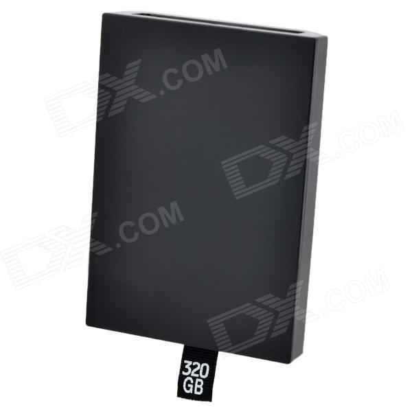 2.5'' SATA Plastic Hard-disk Box for XBOX 360 Slim - Black 2 5 sata 500gb hard drive enclosure for xbox 360 slim black