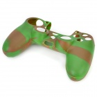 Anti-Slip Funda protectora de silicona para PS4 - verde + Coffee